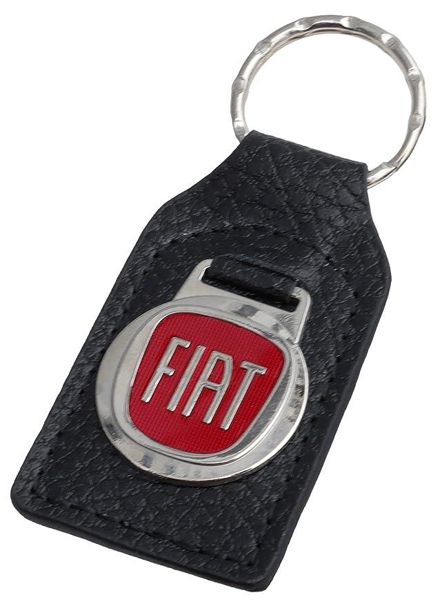Triple C Fiat piel y esmalte llavero llavero: Amazon.es ...