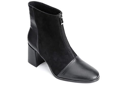 Maxmuxun Botas Mujer Medio Tacon Ancho Invierno Negro Tamaño 38: Amazon.es: Zapatos y complementos