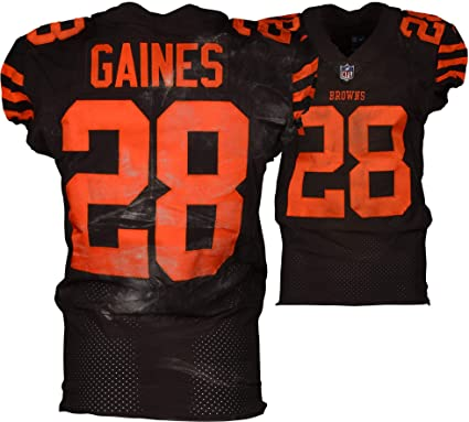 sneakers for cheap 09f5f e7cc1 E.J. Gaines Cleveland Browns Game-Used #28 Brown Jersey vs ...