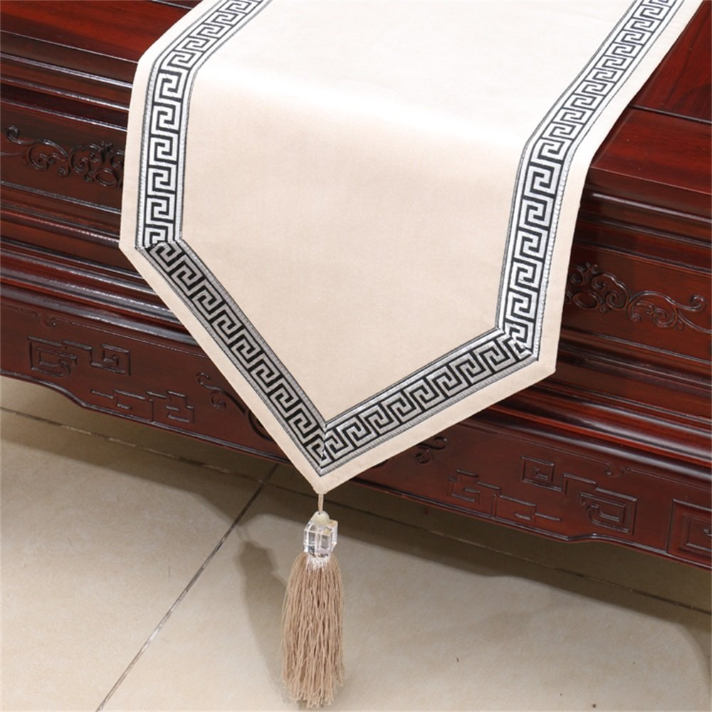 Beige White 33180cm Shopping American Style European Garden Table Runner Tablecloth Bed Flag Cloth Arts ( color   bluee , Size   33300cm )