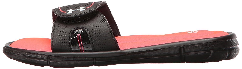Under Armour Women's Ignite VIII Slide Sandal B01GSZ189W 11 M US|Black (064)/Sirens Coral