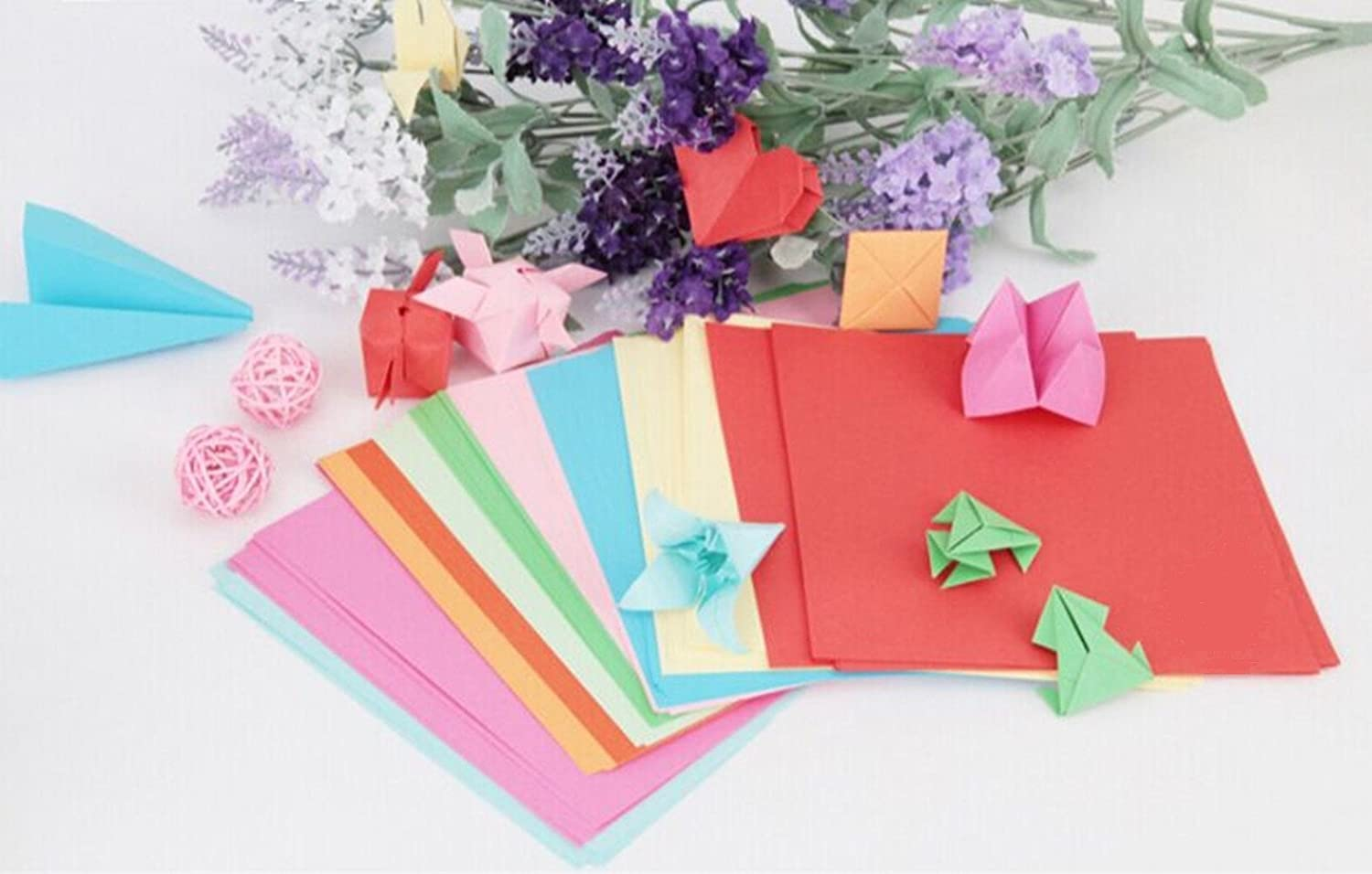 100 sheets well packed double sided origami paper 15cm x 15cm 6 100 sheets well packed double sided origami paper 15cm x 15cm 6 inch in 10 assorted colours amazon kitchen home jeuxipadfo Images