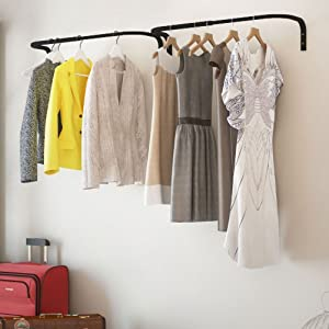 Nice Adjustable Double Hanging Closet Bar Rail Organization System Durable Steel  Construction Buyer Receives 2 Bars (