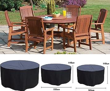 Waterproof 4/6 Seater Round Outdoor Garden Patio Furniture Cover (6 Seater  Round)