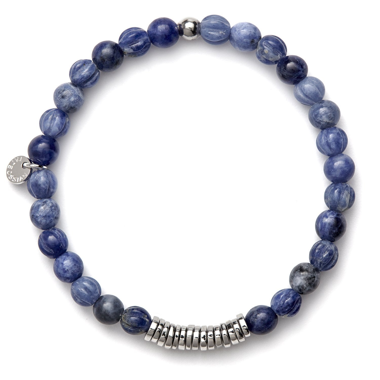 Tateossian Men's Disc/Round Beaded Bracelet BL1043