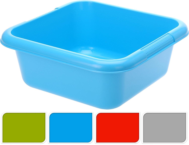 PonZE Addis Large Plastic Washing Up Bowl Rectangular Kitchen Sink Basin Tidy 9.5Ltr