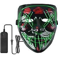 Busaodisa Scary LED Halloween Mask (Green)