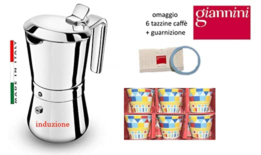 Paganohome Giannini - Cafetera de inducción Restyling 1 Taza de ...