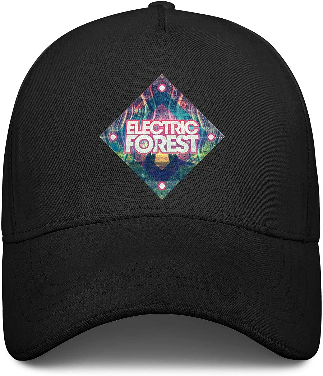 Electric Forest Festival Logo Square Unisex Baseball Cap Highly Breathable Snapback Hats Adjustable Trucker Caps Dad-Hat