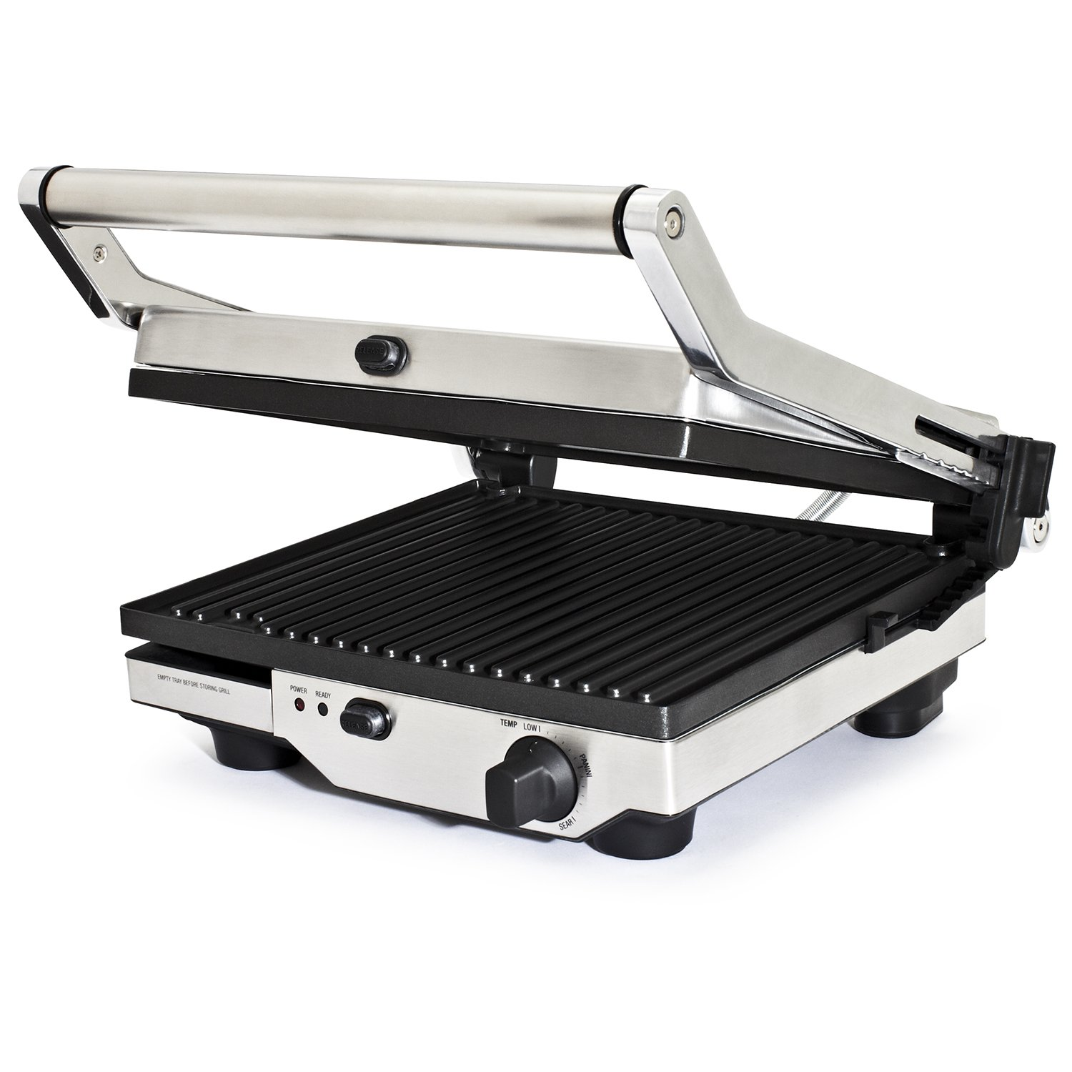 New breville quick clean removable non stick plate grill floating hinge bgr420xl ebay - Grill with removable plates ...