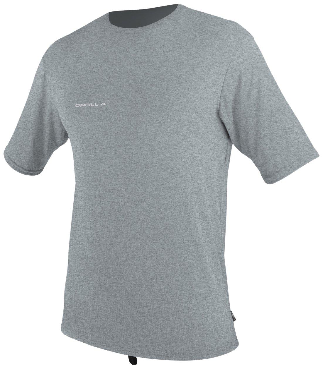 O'Neill Wetsuits  Men's Hybrid UPF 50+ Short Sleeve Sun Shirt,CoolGrey,Medium