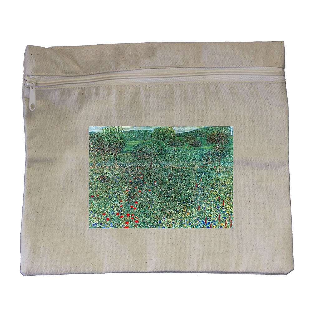 Female Act With Animals (Klimt) Canvas Zippered Pouch Makeup Bag