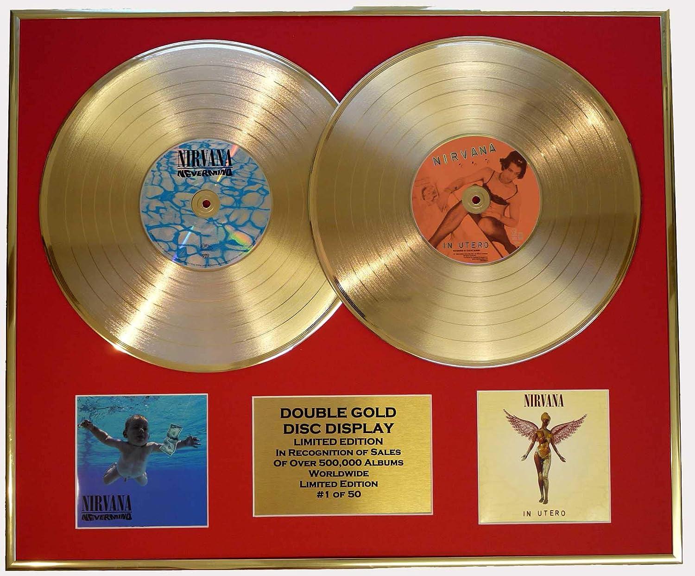 NIRVANA/double CD Disco de Oro & Foto Display/Edicion LTD/Certificato di autenticità/NEVERMIND & IN UTERO