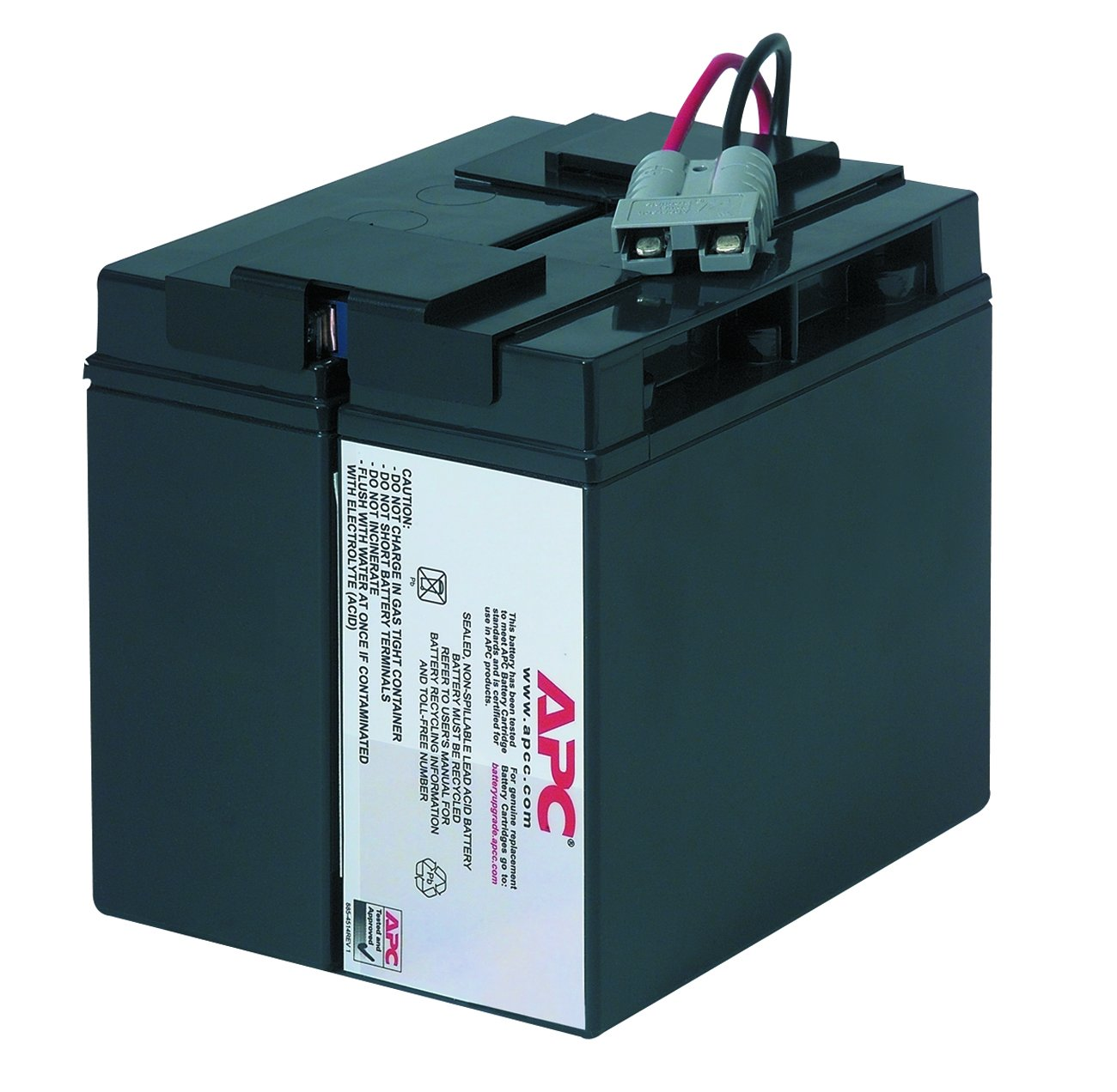 APC UPS Replacement Battery Cartridge for APC UPS Model SMT1500 and select others (RBC7) by APC