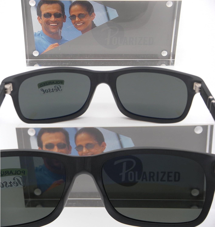 13c9988d8d3 New Authentic Persol Matte Black Frame Grey Polarized Lenses 0PO 3048S  900058 58mm  Amazon.co.uk  Clothing