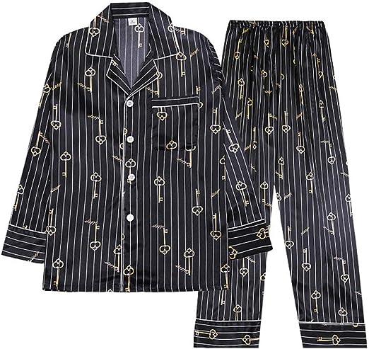 Pijama de algodón para Hombre Set Hombres de Manga Larga ...
