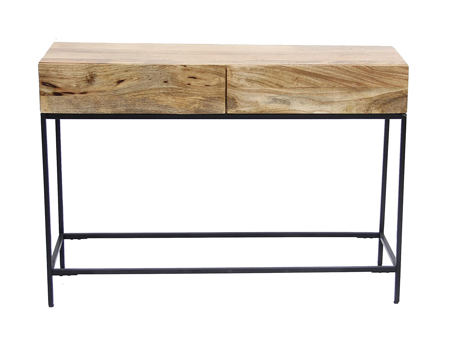 Amazon.com: The Urban Port 39270 Industrial Style Console Table With Two  Drawers Natural Wood: Home U0026 Kitchen