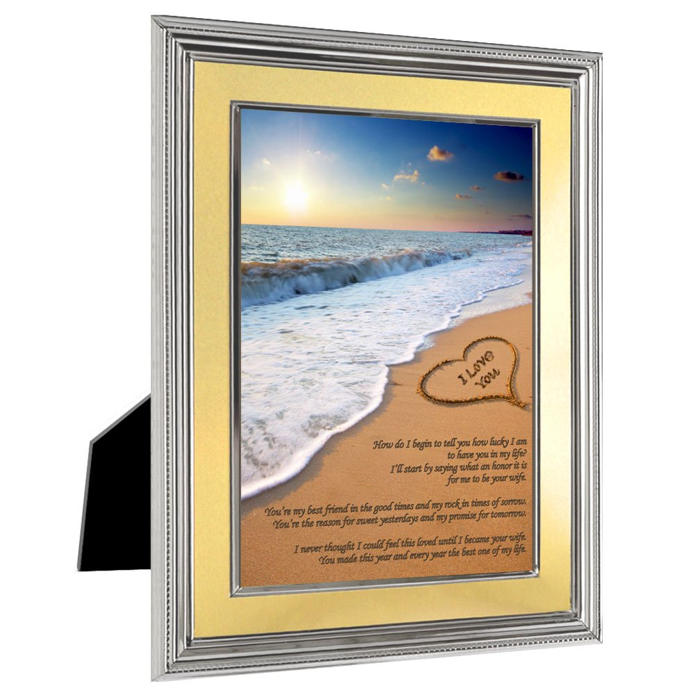 I Love You Gift for Husband from Wife - Sweet Poem for Birthday, Christmas or Anniversary in 5x7 Frame