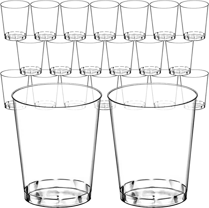 DecorRack 20 Plastic Tumblers, 10 oz Crystal Clear -BPA FREE- Plastic Cups, Disposable Party Glass, Beverage Drinking Cup (20 Pack)