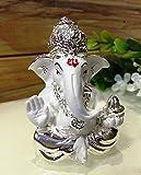 Karigaari Car Dashboard Ganesha Polyresine Idol (7.62 cm x 7.62 cm x 7.62 cm, GANP3)