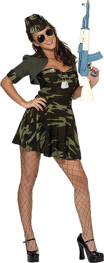 Smiffys - Disfraz de militar para mujer, talla M (33078M): Amazon ...