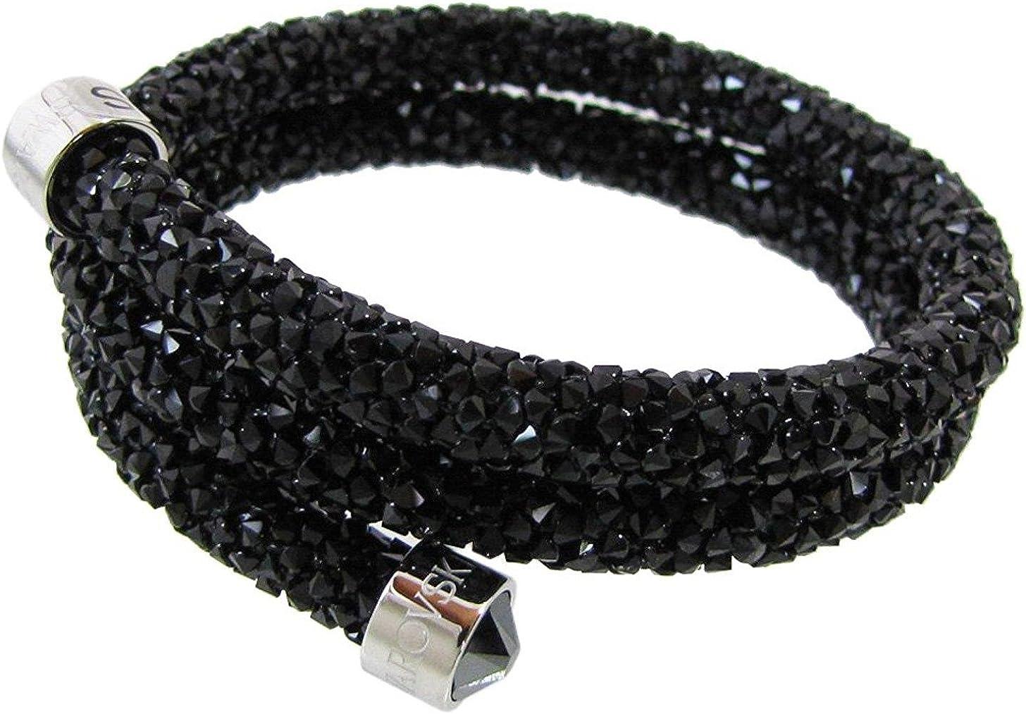 Parity > swarovski crystaldust double bangle black, Up to 63% OFF