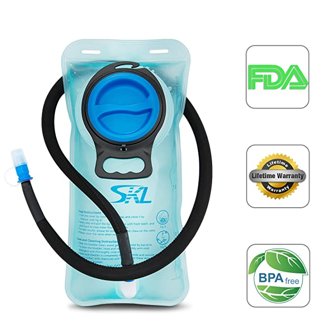 Mochila de hidratación para ciclismo con bolsa de agua de 2 litros sin PBA para correr, ciclismo, ciclismo, senderismo, escalada, esquí, caza, en ...