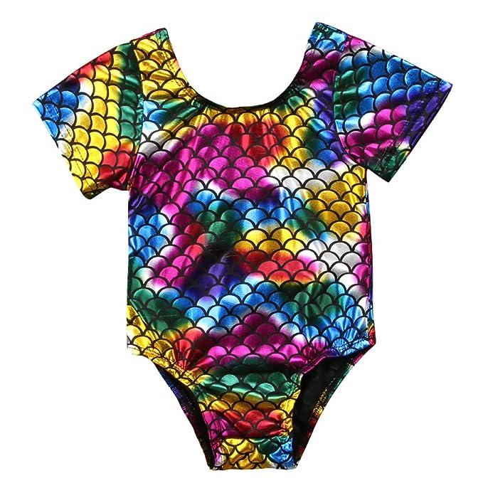 pudcoco bebés, niñas, colorido escala de peces sirena bañadores ...