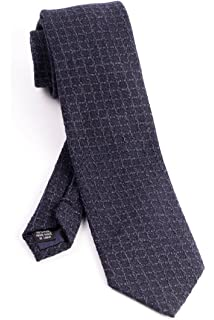 Pure Silk Navy with Horizontal Lines Tie by Tiglio Luxe