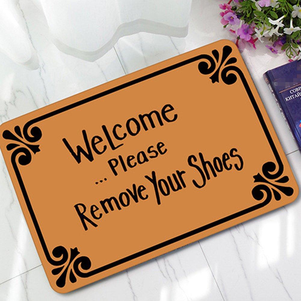 Doormat please remove shoes doormat images : Amazon.com : Welcome Please Remove Your Shoes Doormat Entrance Mat ...