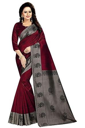 AKSHAR STORE Mayuri Sarees For Womens Mysore Art Silk Saree With Blouse Piece