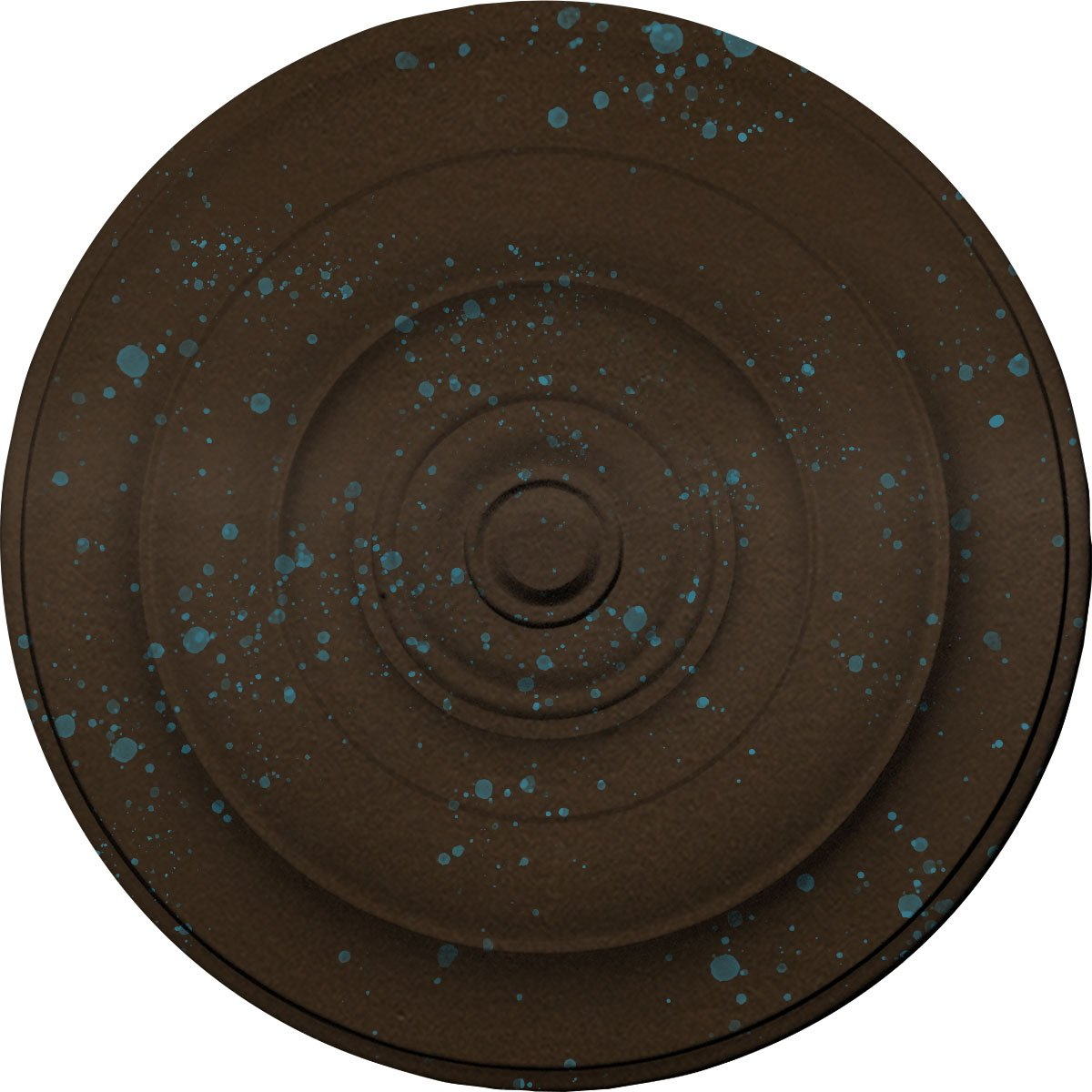 Ekena Millwork CM18NIBBS Niobe Ceiling Medallion, Bronze Blue Patina