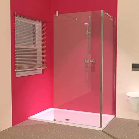 Line L Shaped Walk In Shower Screens With 1600 X 900 Tray Amazon Co