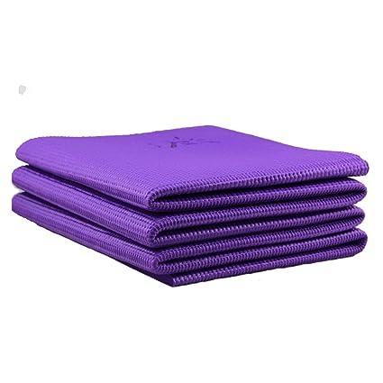 Plegable antideslizante colchoneta de ejercicios de Yoga de viaje, plegable, portátil, libre de ftalatos y látex (60 x 174 cm).