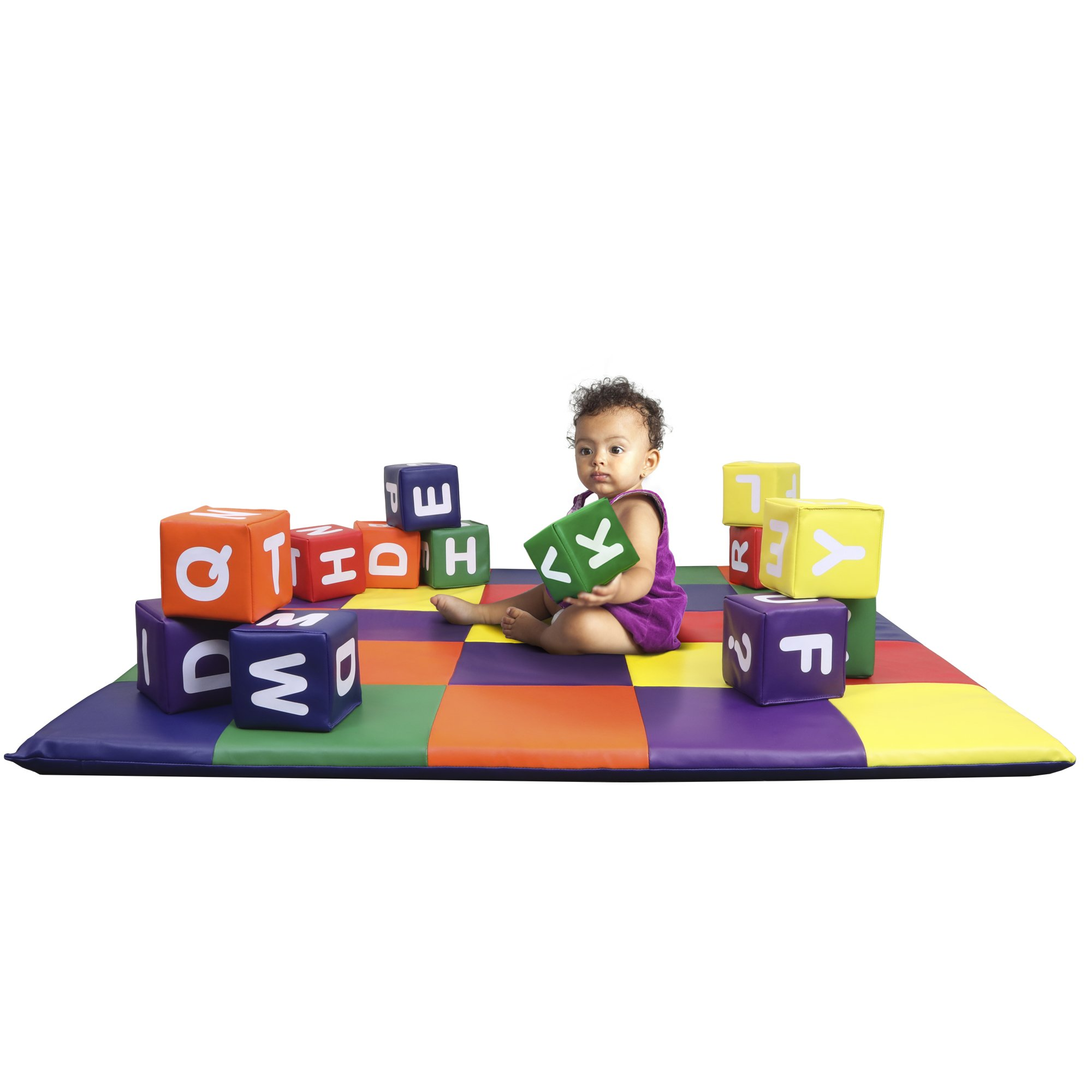 Dream Tree Building Blocks with Alphabet [Set of 12] Washable, Non-Toxic CPSIA Compliant Learning Toys Soft Foam Blocks for Toddler, Baby, Kids, and Preschool …