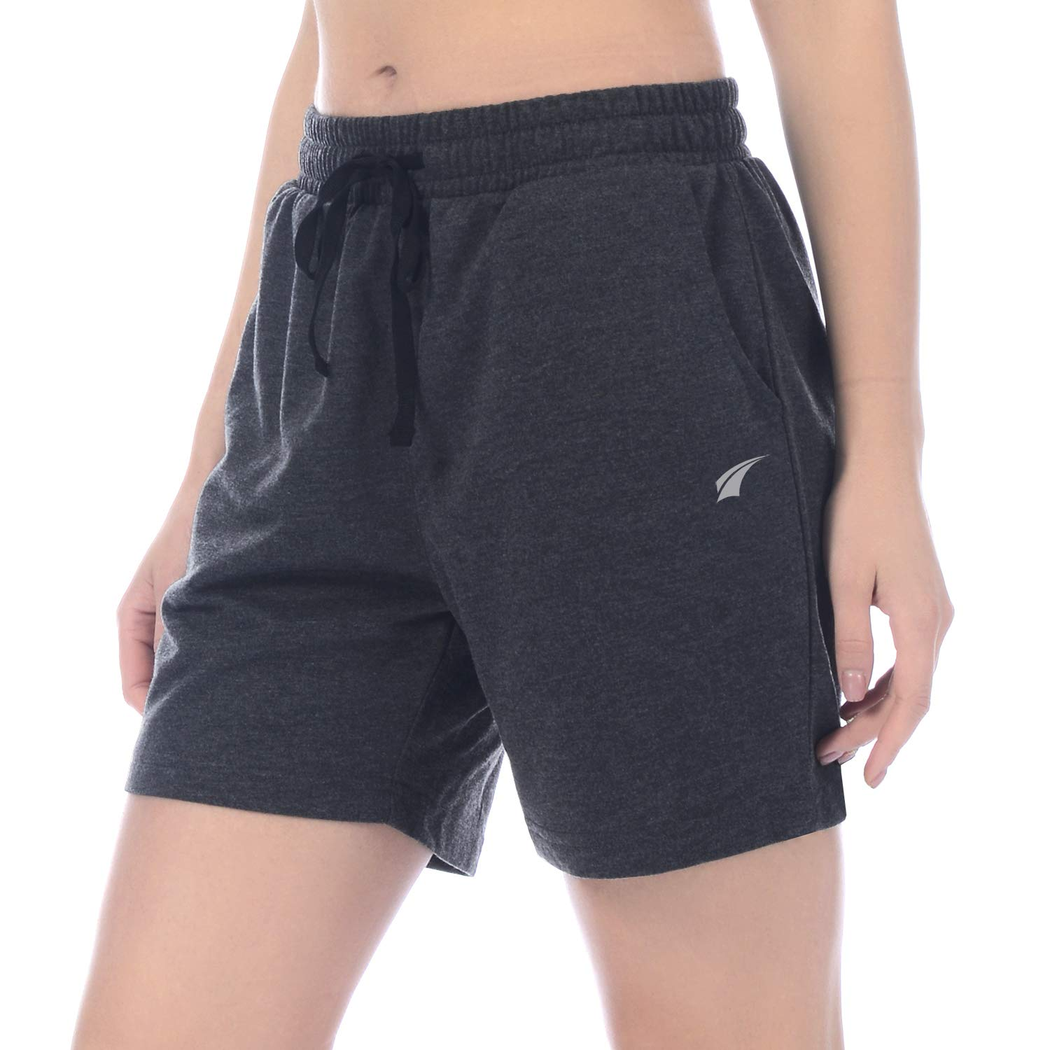 Charcoal EZRUN Women's Active Workout Jogger Shorts Lounge Activewear Yoga Shorts with Pockets