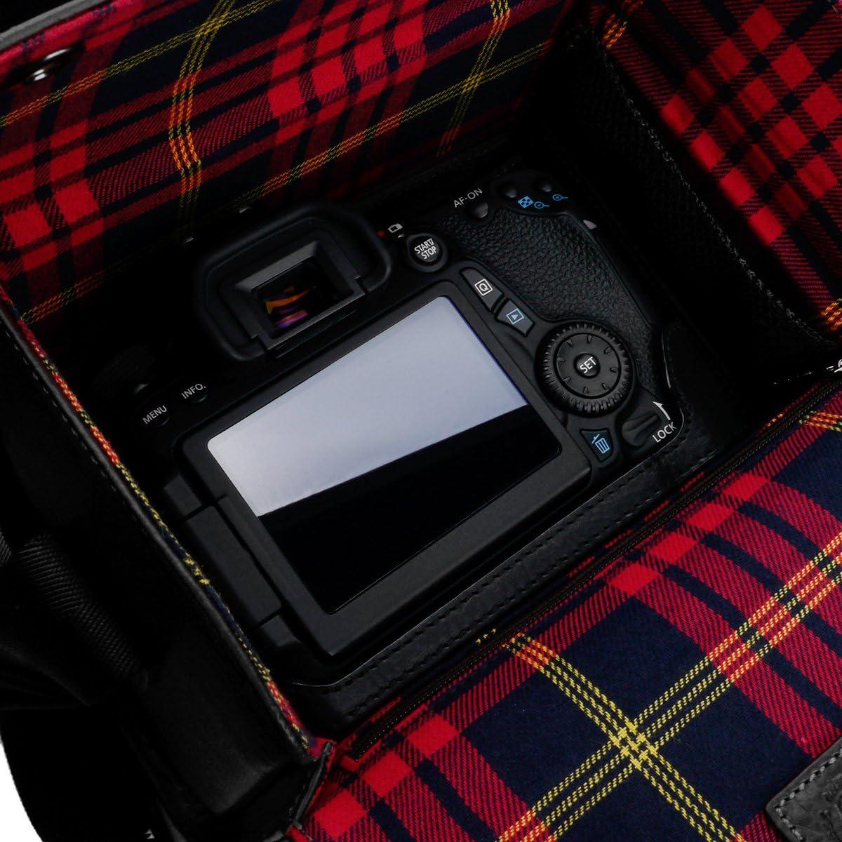 Gariz BL-NZBMBK Black Label Leather Camera Bag For Mirrorless DSLR Cameras Medium Black