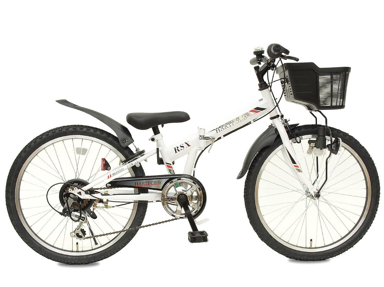 春夏新作モデル 24インチ ホワイト ハートフォード 組み立て式 折りたたみ自転車 6段変速 ブロックライト 組み立て式 24インチ ホワイト B07FCCQJ4P, オートウェアー:3c35c5c7 --- arianechie.dominiotemporario.com