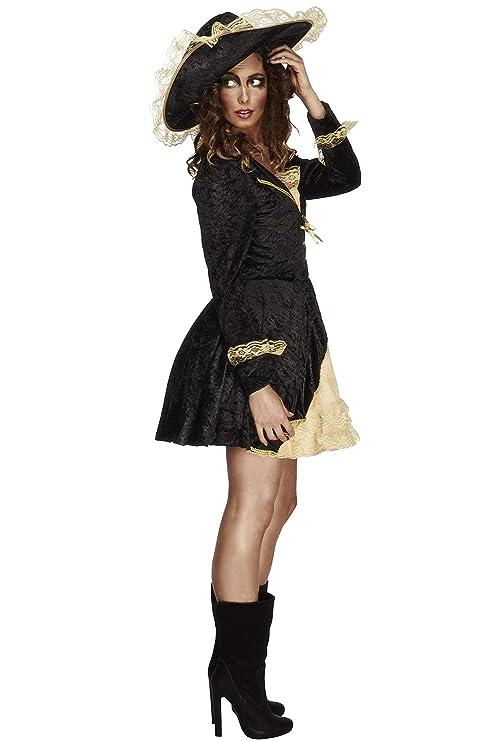 Smiffys - Disfraz de Pirata Barroco para Mujer, Talla L (27072L)