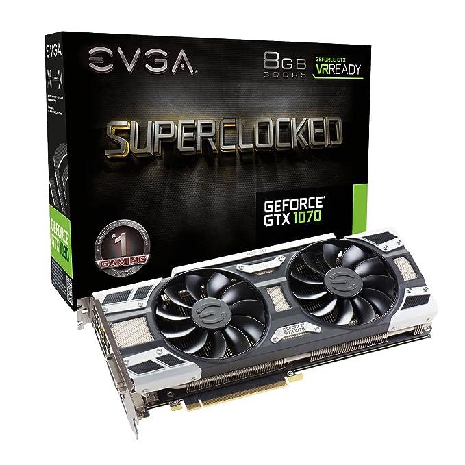 EVGA GeForce GTX 1070 SC Gaming ACX 3.0 8 GB Tarjeta gráfica ...