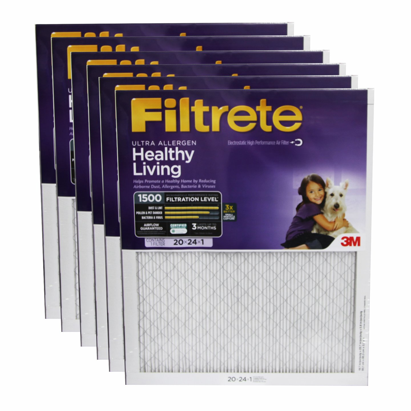 20x24x1 3M Filtrete Ultra Allergen Filter (6-Pack)