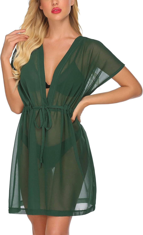 Avidlove Swimsuit Cover Ups for Women Bikini Cardigan Chiffon Kimono Sheer  Beach Coverup at Amazon Women's Clothing store