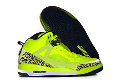 best website 377dc 2d705 Image Unavailable. Image not available for. Color  Nike Air Jordan Spizike  BHM Mens Basketball Shoe (Volt   Black   Photo Blue)
