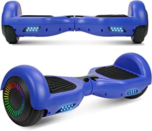 """UNI-SUN Hoverboard for Kids, 6.5"""" Self Balancing Hoverboard with Bluetooth and LED Lights, Bluetooth Hover Board"""