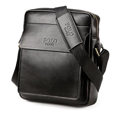 Polo Man Genuine Leather Apple iPad Bag Messenger Shoulder Bag Casual  Crossbody Business Handbag Briefcase Brown 4ce1b029ccb95
