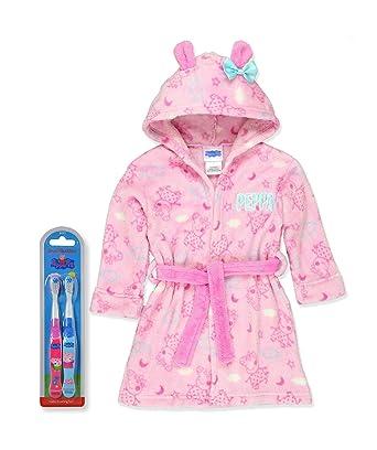Amazon.com  Peppa Pig Little Girls Plush Bathrobe Robe Pajamas ... 13dc78316