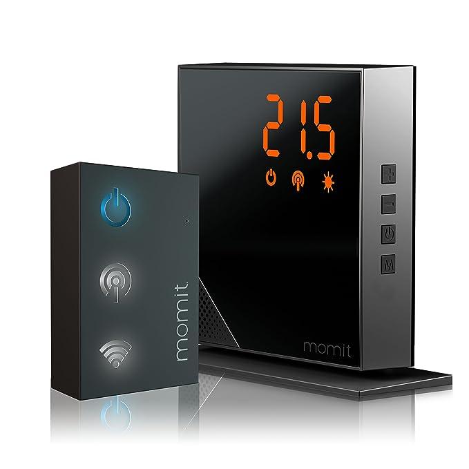 74 opinioni per Momit Home Termostato Digitale Wi-Fi, Nero