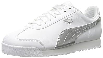 Womens Shoes PUMA Roma L Metallic White/Puma Silver