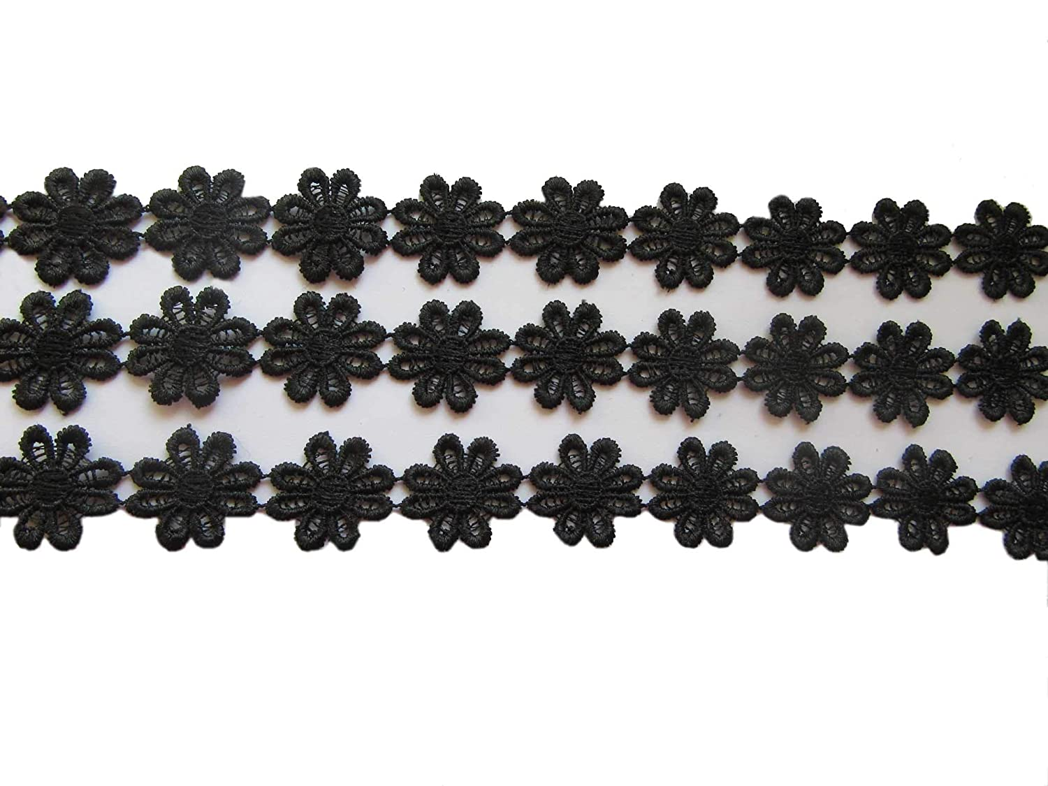 White YYCRAFT 15 Yards Daisy Flower Lace Edge 1 Flower Trim Applique for DIY Sewing Embellishment Crafts