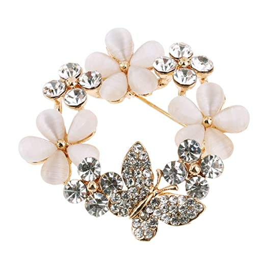 : IEFIEL Butterfly Flower Opal Ornament Safety